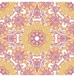 Pink and orange lacy seamless pattern vector