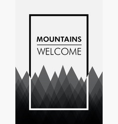 Poster template with mountines vector