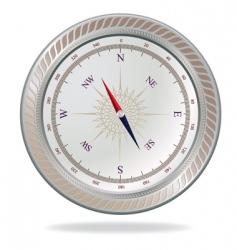 retro silver compass vector image