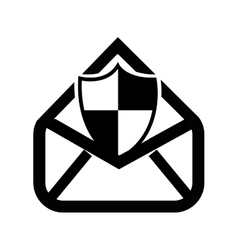 Security email setup isolated icon design vector