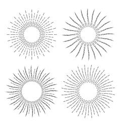 Set of Vintage Linear Sunbursts vector image