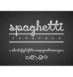 spaghetti typeface vector image vector image