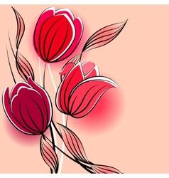 stylized tulips vector image