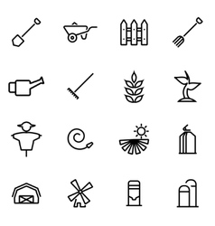 thin line icons - farming vector image vector image