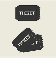 tickets set icon vector image vector image