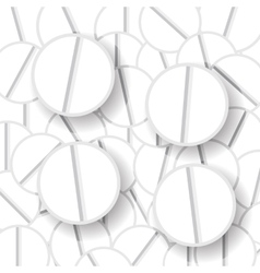 White pills vector