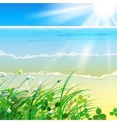 01 paradise sea grass vector