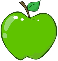 Green apple cartoon character vector