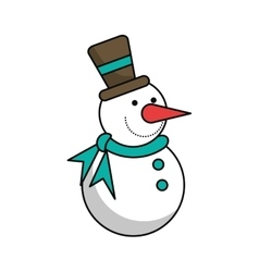 Snowman of christmas season design vector