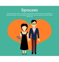 Spouses concept in flat design vector
