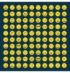 Set of emoticons icon pack vector