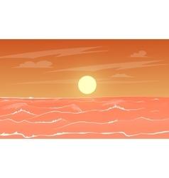 Cartoon sea sunset vector