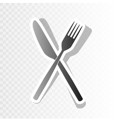 Fork and knife sign  new year blackish vector