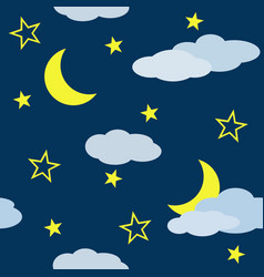 Seamless pattern with night scene vector