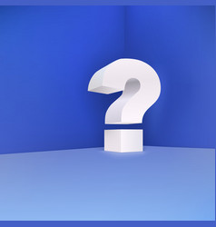 Question mark in the corner on a blue background vector