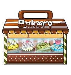 A bakery selling baked goodies and cakes vector image