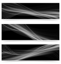 Web swoosh smoke line header collection vector