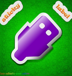 Usb icon sign symbol chic colored sticky label on vector