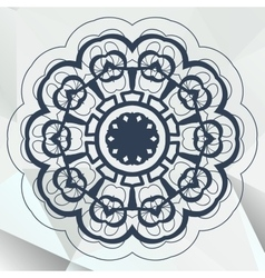 Arabic or indian mandala medallion lace design vector