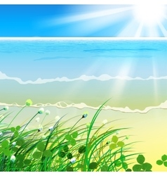 01 paradise sea grass vector