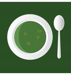 Broccoli soup vector