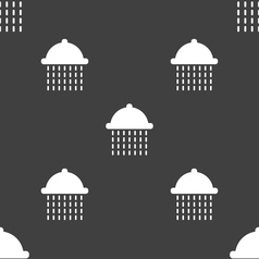 Shower icon sign seamless pattern on a gray vector