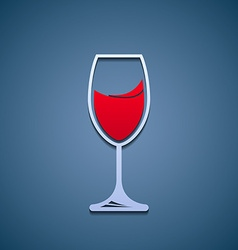 Logo glass of wine vector