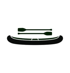 Kayak with oars icon simple style vector