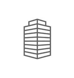 Office building line icon vector