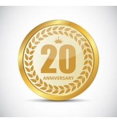 Template logo 20 years anniversary vector