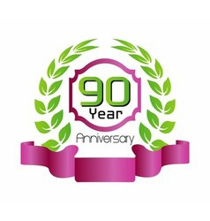 90 year birthday celebration vector