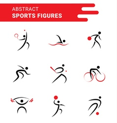 Abstract sports shapes vector