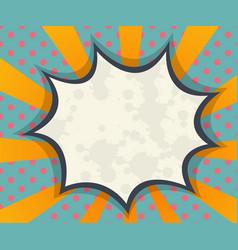 Abstract blank speech bubble comic book pop art vector