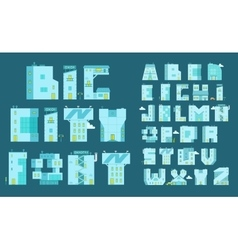 Alphabet set letters-buildings you can write any vector