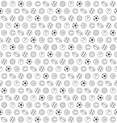 Balls seamless pattern vector