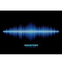 Blue sound waveform vector image vector image