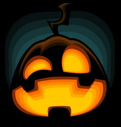 cartoon halloween pumpkin silhouette mad laugh vector image vector image