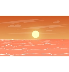 Cartoon sea sunset vector