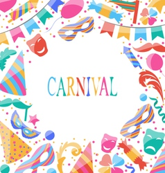 celebration Carnival card with party colorful vector image