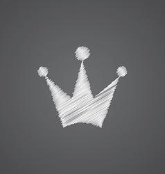 Crown sketch logo doodle icon vector