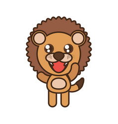 Cute lion toy kawaii image vector