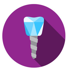 Dental implant symbol vector