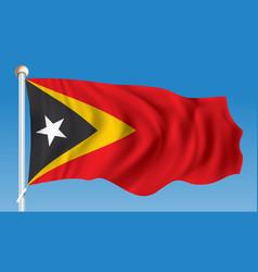 Flag of timor-leste vector