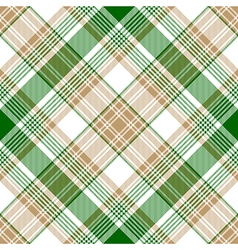 Green gold check diagonal plaid seamless pattern vector