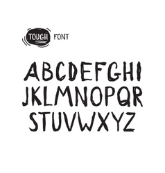 Grunge tough simple font Universal alphabet vector image vector image