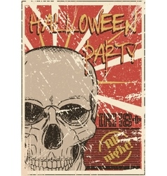 Halloween Party grunge poster vector image