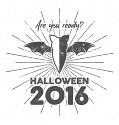 Happy halloween 2016 poster are you ready vector