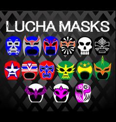 Lucha-masks vector
