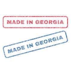 Made in georgia textile stamps vector