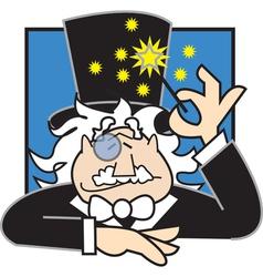 Magician logo vector image
